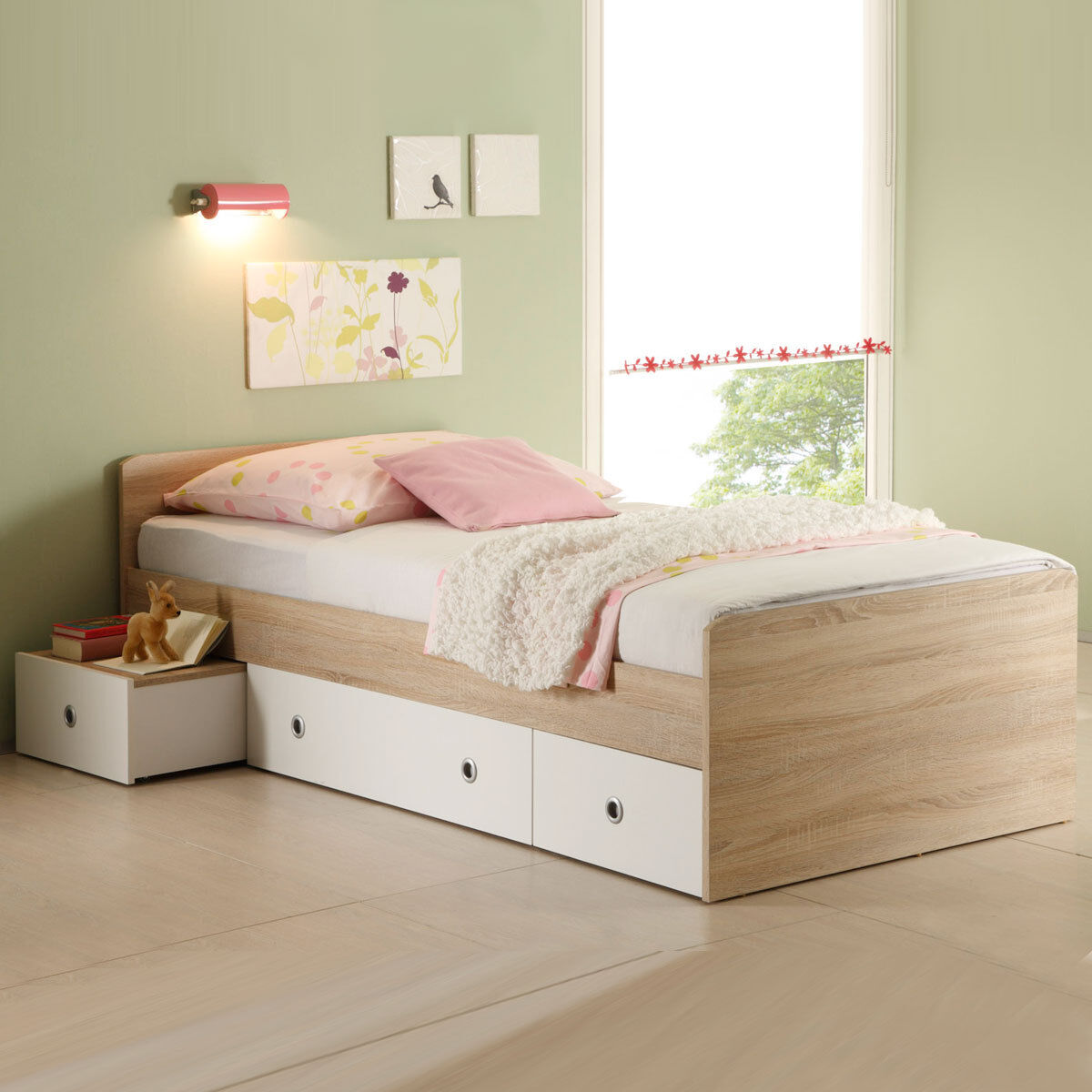 bett wiki kinderbett jugendzimmer in sonoma eiche s gerau 90x200 cm eur 99 95 picclick de. Black Bedroom Furniture Sets. Home Design Ideas