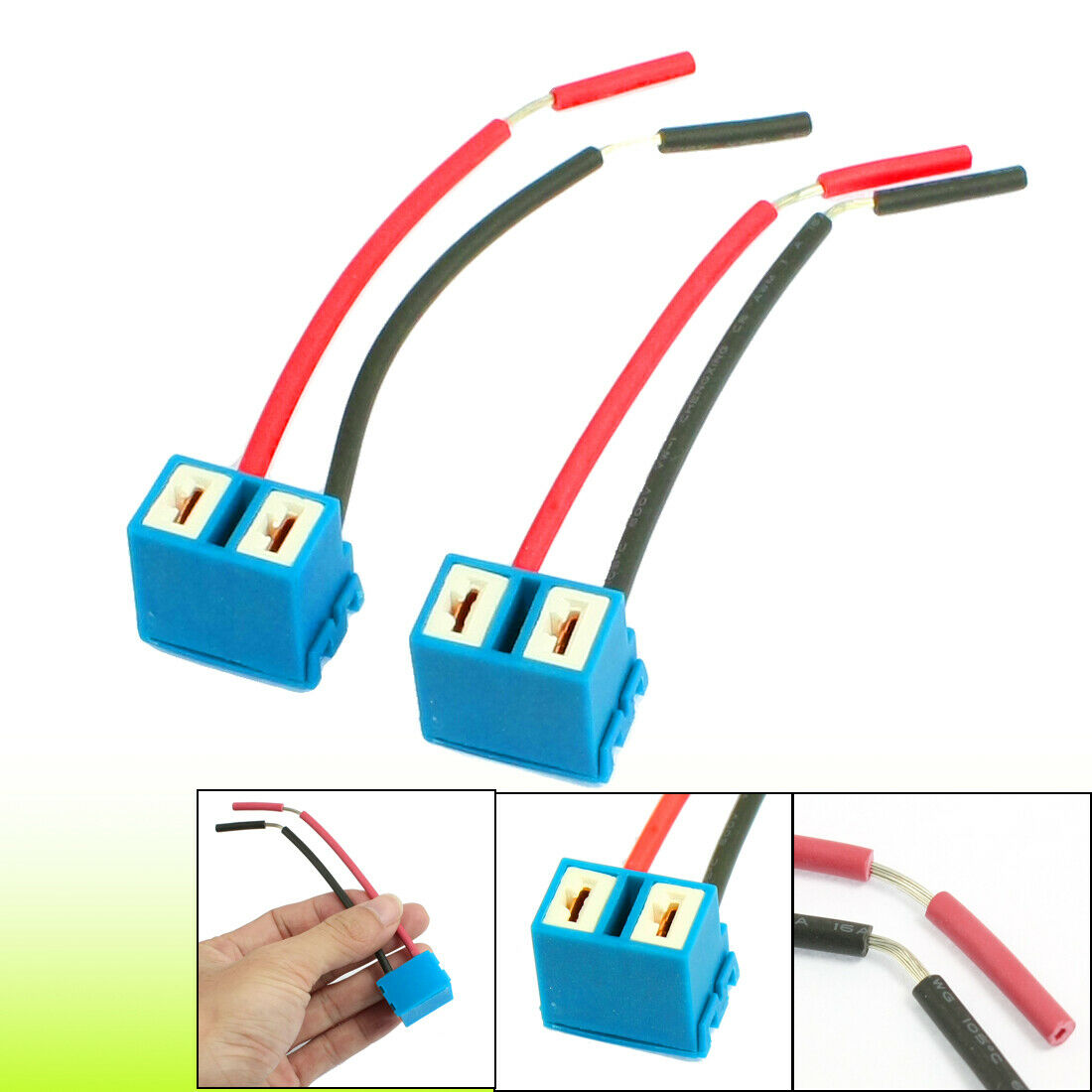 2pcs Dc12v Angled Socket H7 Ceramic Extention Headlight Connector Wiring Harness 1 Of 1only Available See More