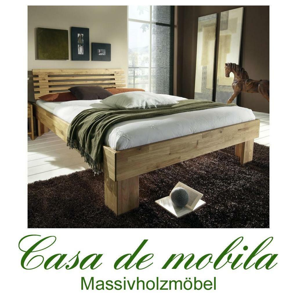 massivholz bett 160x200 eiche massiv doppelbett holzbett gamma wildeiche ge lt eur 721 00. Black Bedroom Furniture Sets. Home Design Ideas