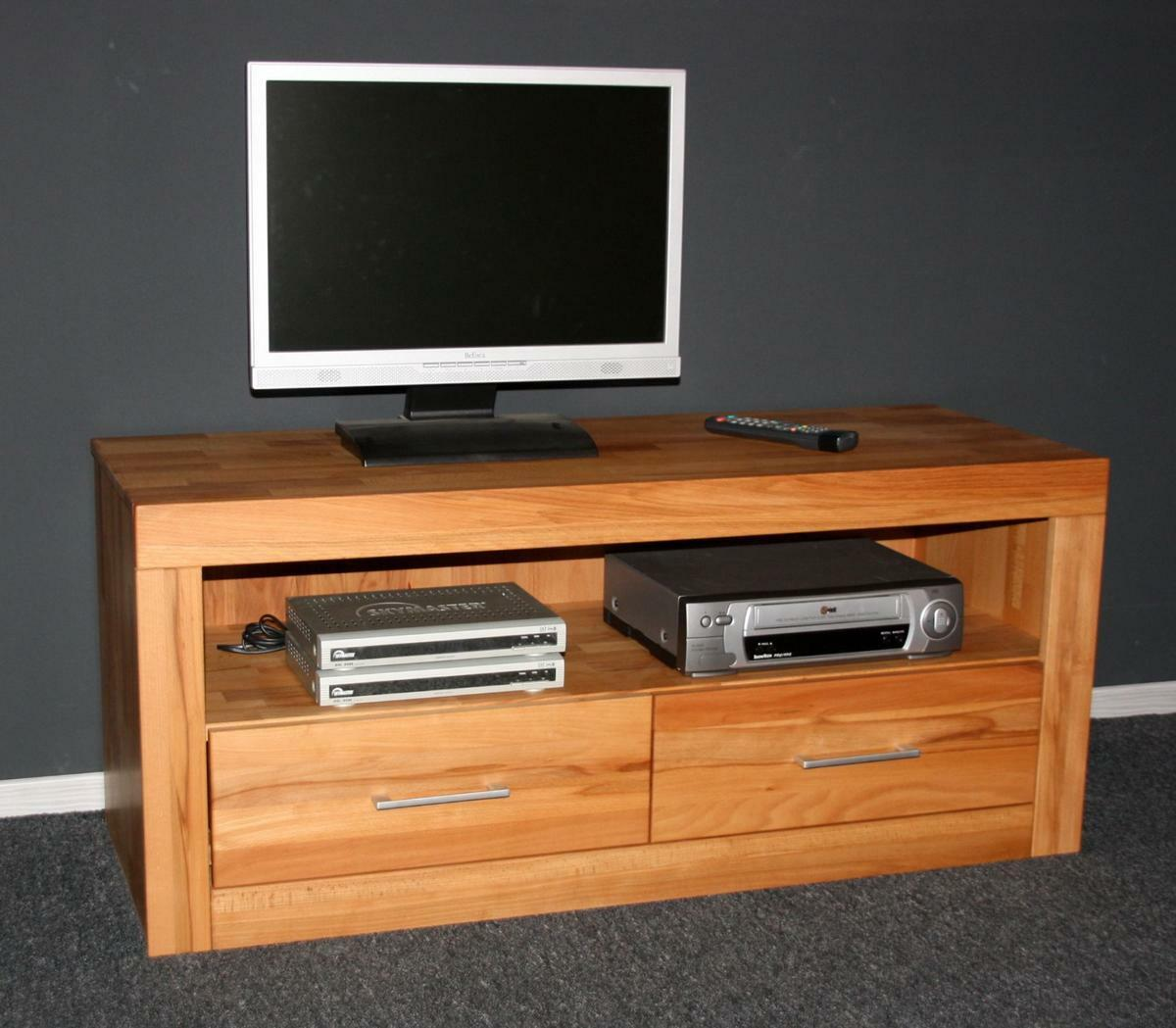 tv lowboard tv kommode fernseh schrank m bel kernbuche. Black Bedroom Furniture Sets. Home Design Ideas