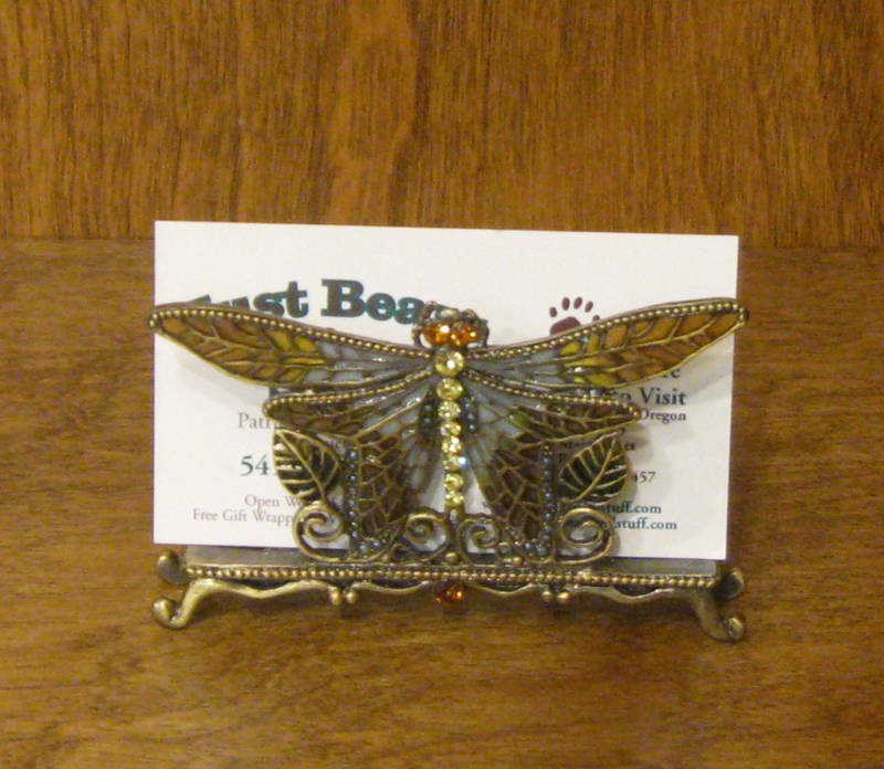 pewter business card holder h172 butterfly mib welforth