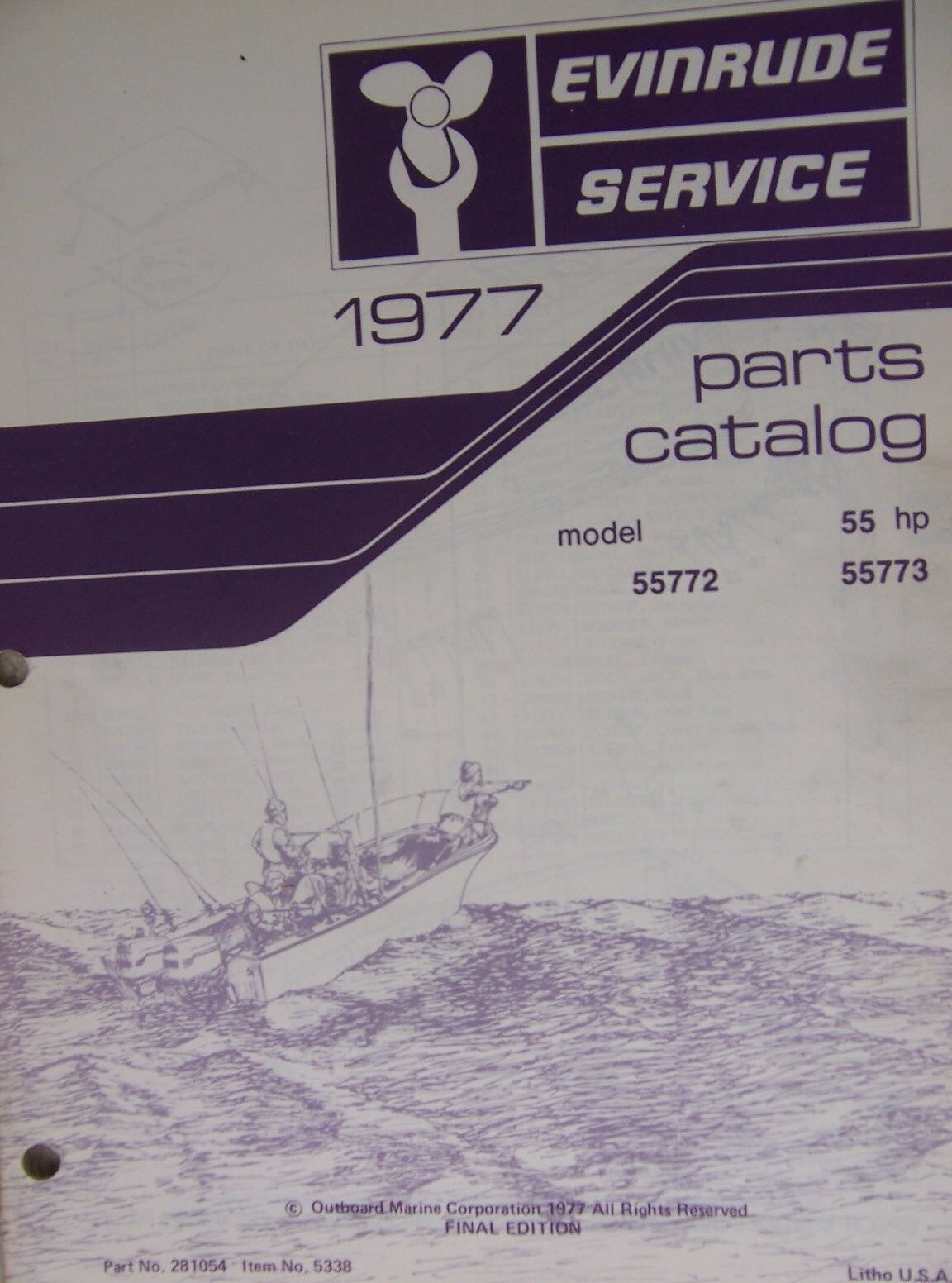 1977 evinrude 55 hp outboard motor parts catalog model for Outboard motor parts online