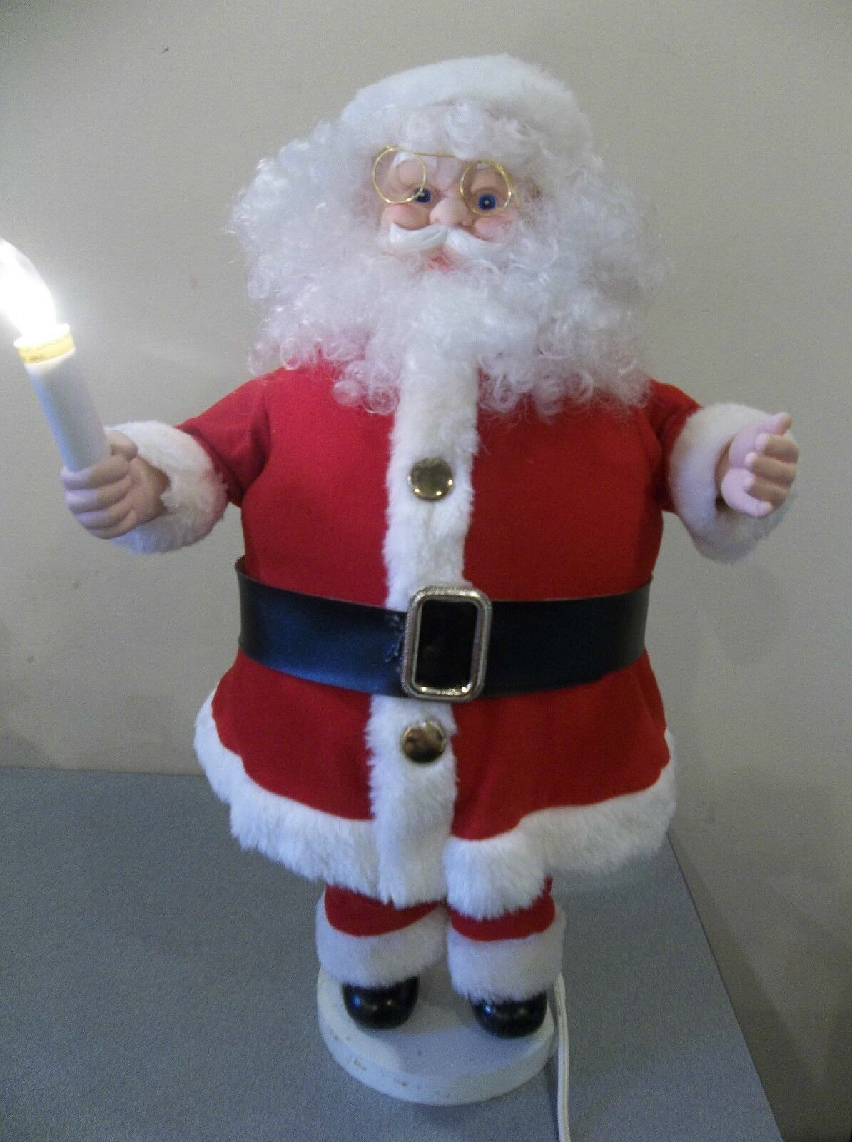 6 motionette animated christmas santa claus light up for Animated santa claus decoration