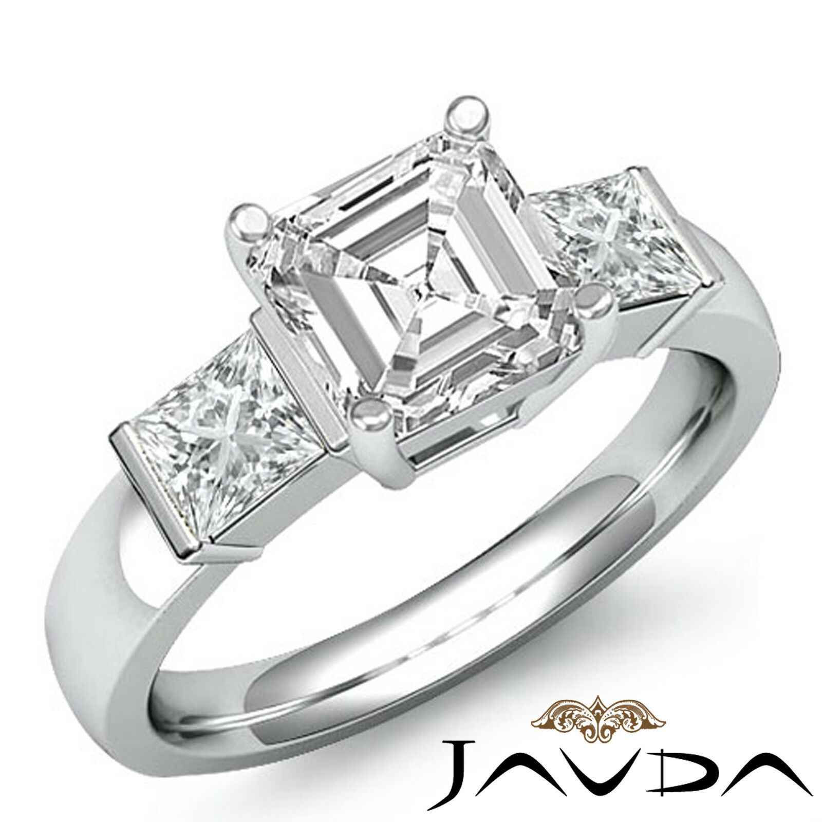 diamond asscher products asher petite gracelee com stacker ring