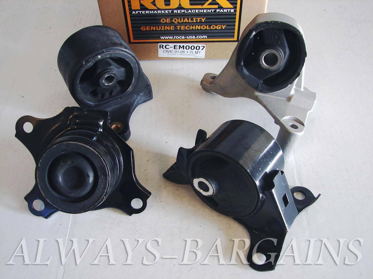 ROCAR Engine Mount Motor Transmission Mount Bushing Civic 01-05 1.7L MT  4pcs 1 of 1Only 2 available See More