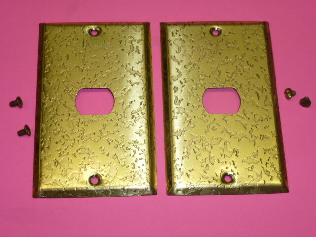 Nos! (2) Bell Interchange 1-Gang Antique Gold Finish Wall Plate, 1-Hole