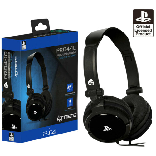 sony officially licensed stereo gaming headset for ps4. Black Bedroom Furniture Sets. Home Design Ideas