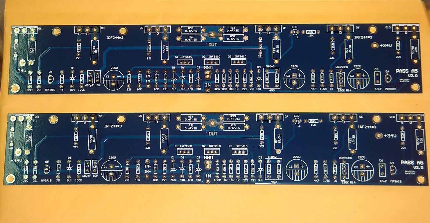 2 X Class A 60w Power Amplifier Pcb Based On Aleph 5 2888 Picclick Transistored Circuit 1 Of 1only Available
