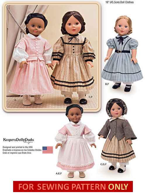 SEWING PATTERN! MAKE Doll Clothes~Civil War Style! Fit American Girl ...