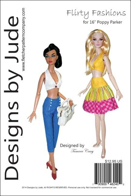 FLIRTY Fashions Doll Clothes Sewing Pattern for 16\