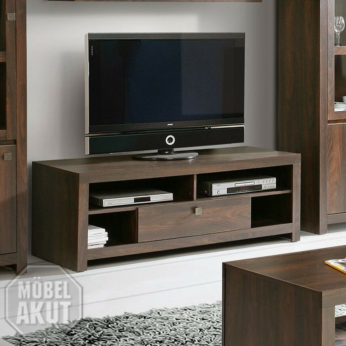 tv board indigo lowboard unterschrank in eiche durance kolonialstil eur 108 95 picclick de. Black Bedroom Furniture Sets. Home Design Ideas