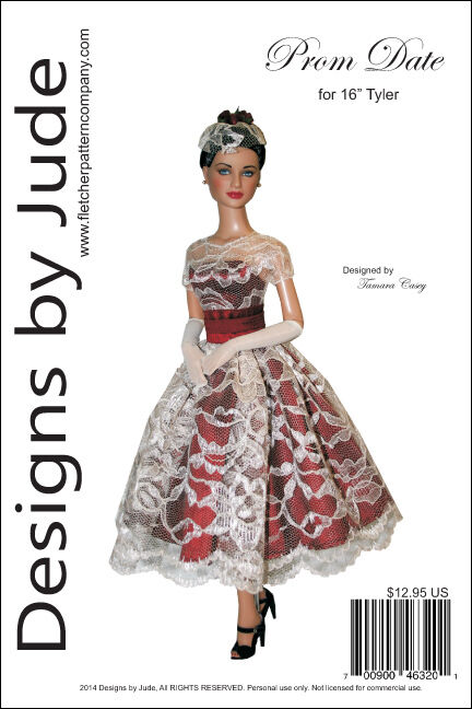 PROM DATE DOLL Clothes Sewing Pattern for 16\