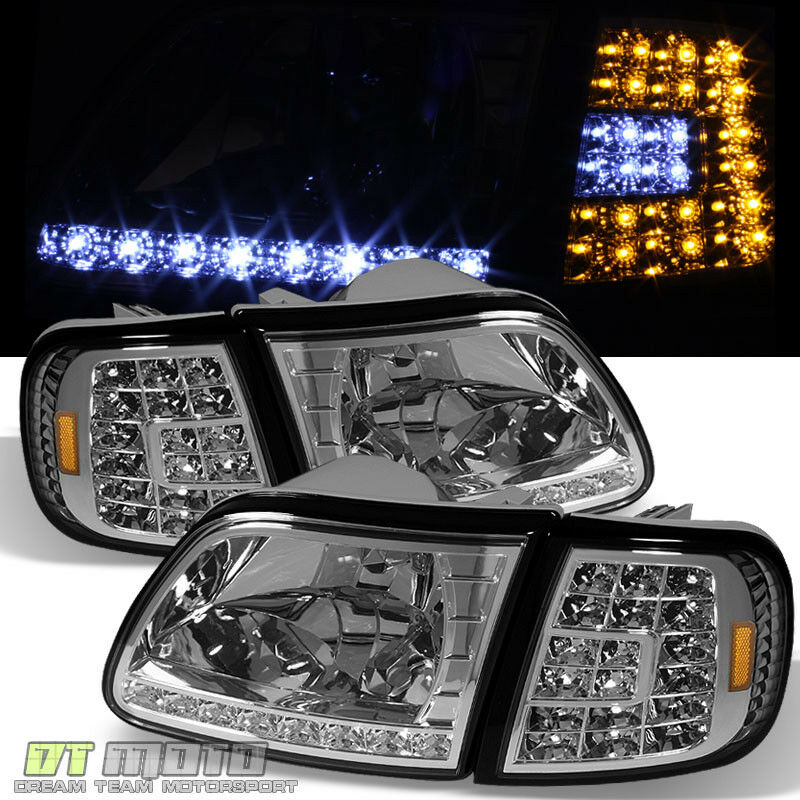 97 03 Ford F150 Expedition LED Headlights Full LED Corner