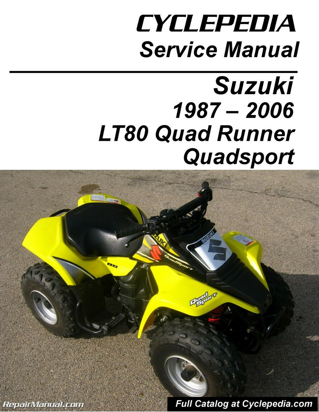Suzuki LT80 Quadsport, Kawasaki KFX80 Cyclepedia Printed Service Manual 1  of 1Only 4 available ...