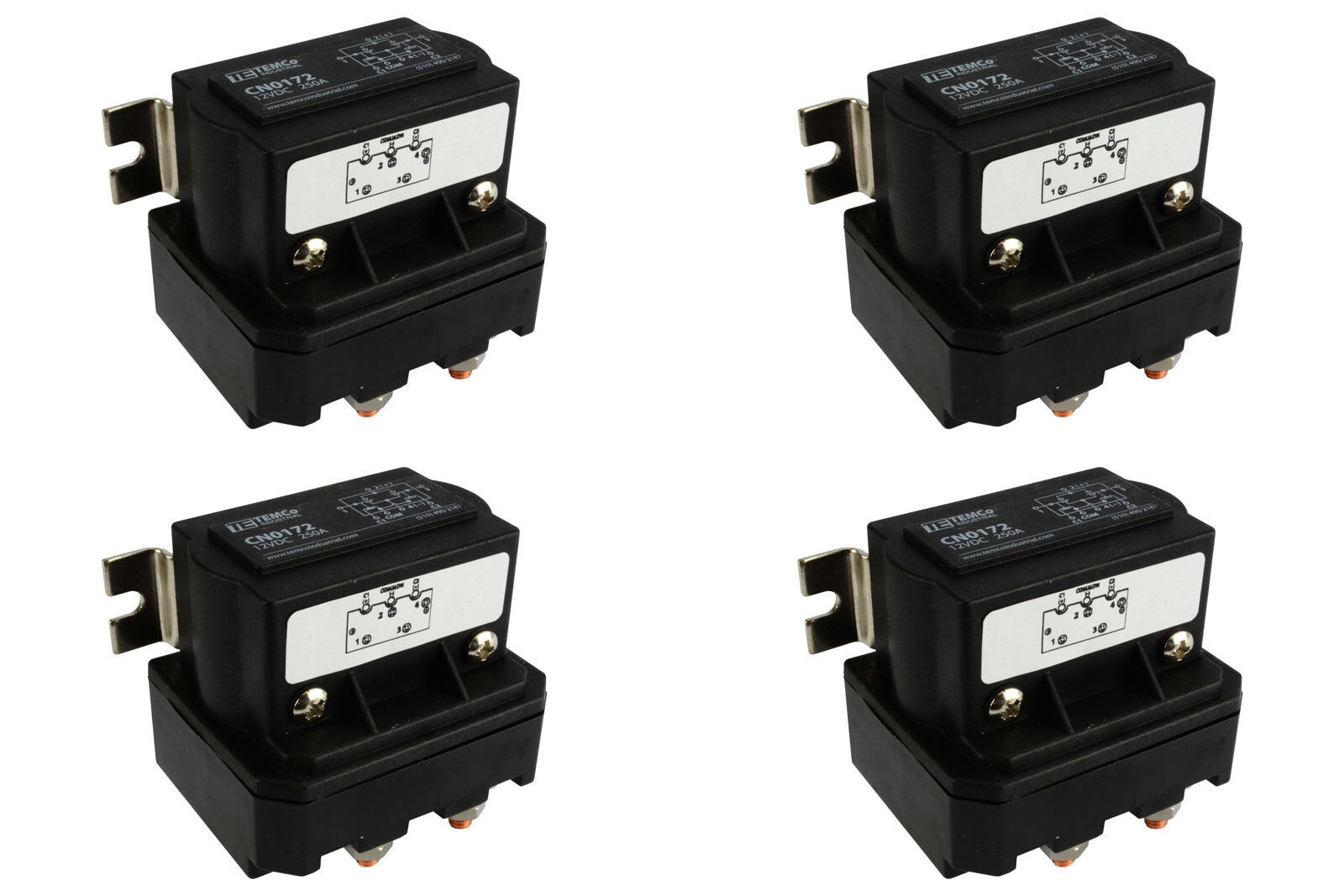 4x Temco 250a Dc Winch Motor Reversing Solenoid Relay Switch 12 Volt Wiring Diagram 1 Of 11free Shipping
