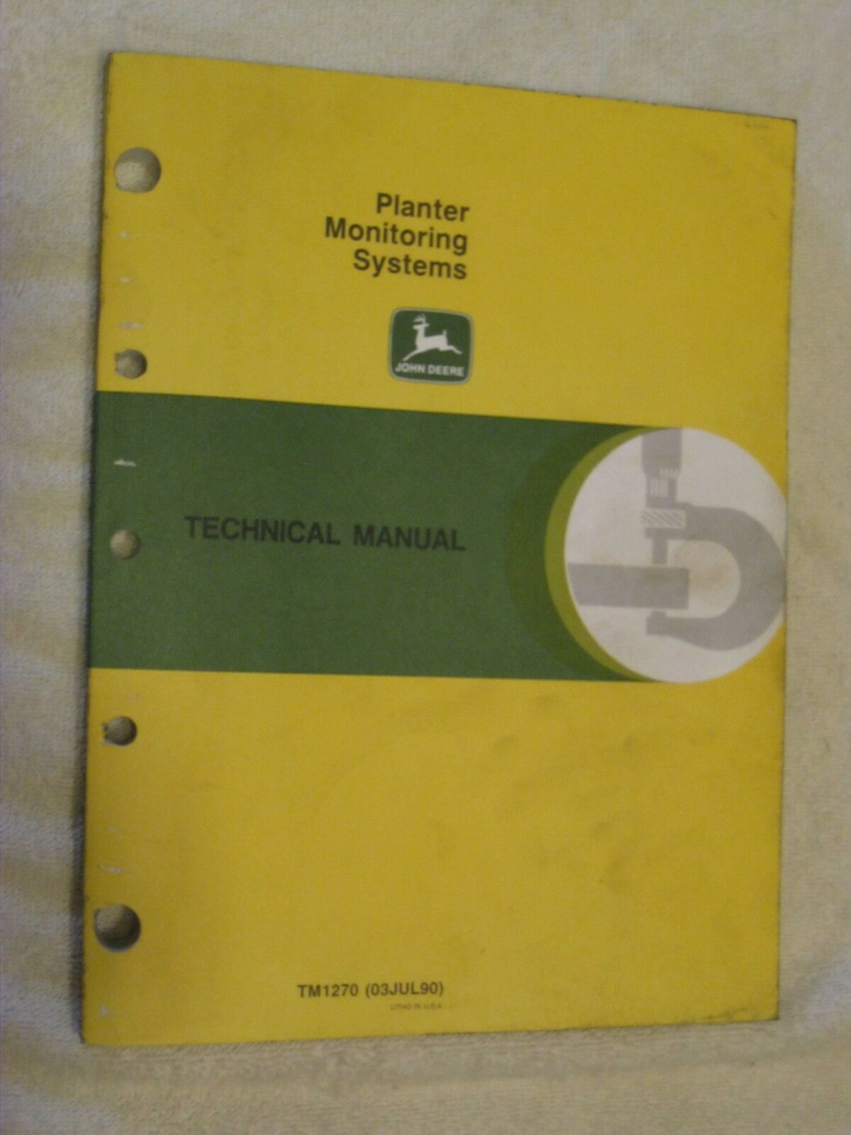 Jd John Deere Planter Monitoring Systems Technical Service Manual Tm1270 1  of 1Only 1 available ...