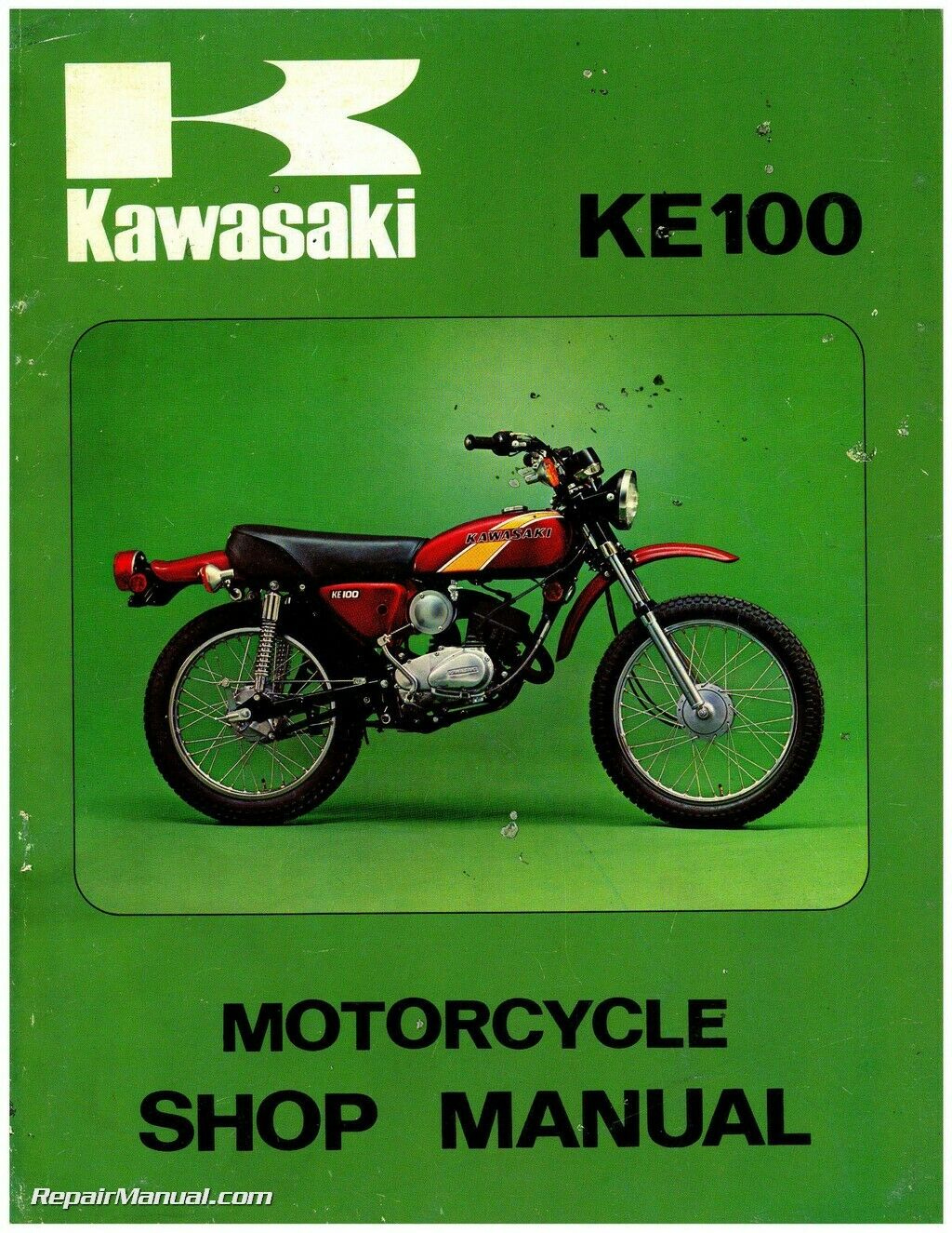 1971-1981 Kawasaki G5 KE100 Motorcycle Service Manual 1 of 1Only 4  available See More