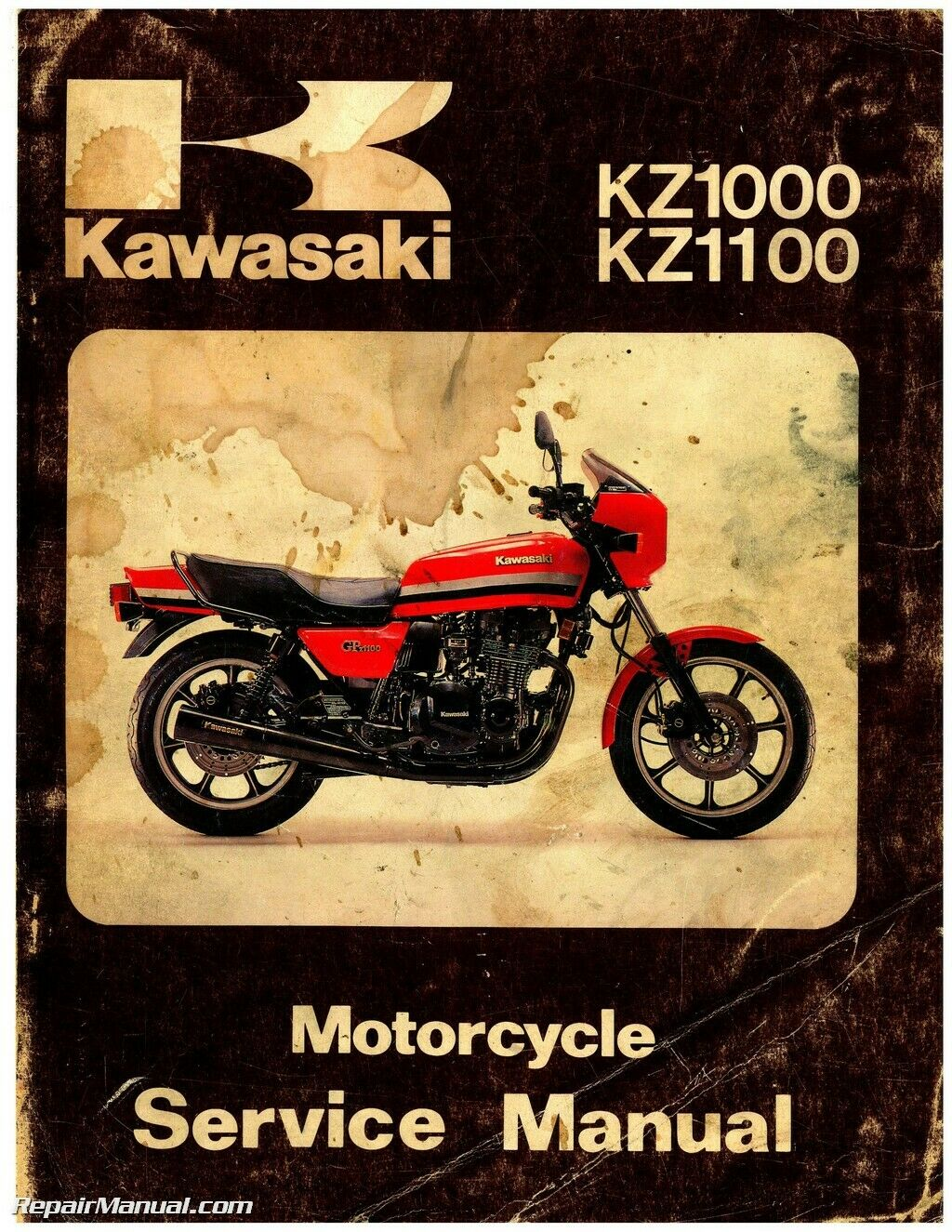 Kawasaki Kz1000p Wiring Diagram Trusted Diagrams 1982 Kz650h 1981 Kz1000 Kz1100 Motorcycle Repair Service Manual Household Basics