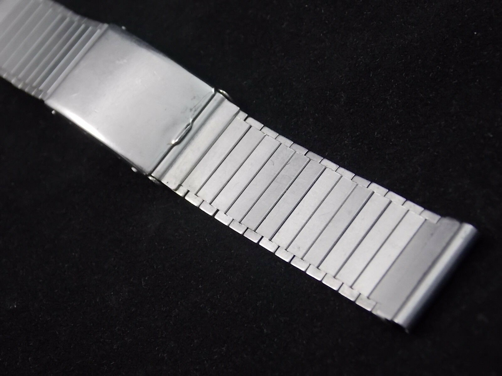 """KB Handi-Fold Mens 16mm 5/8"""" Vintage Watch Band Deployment Clasp Stainless NOS"""