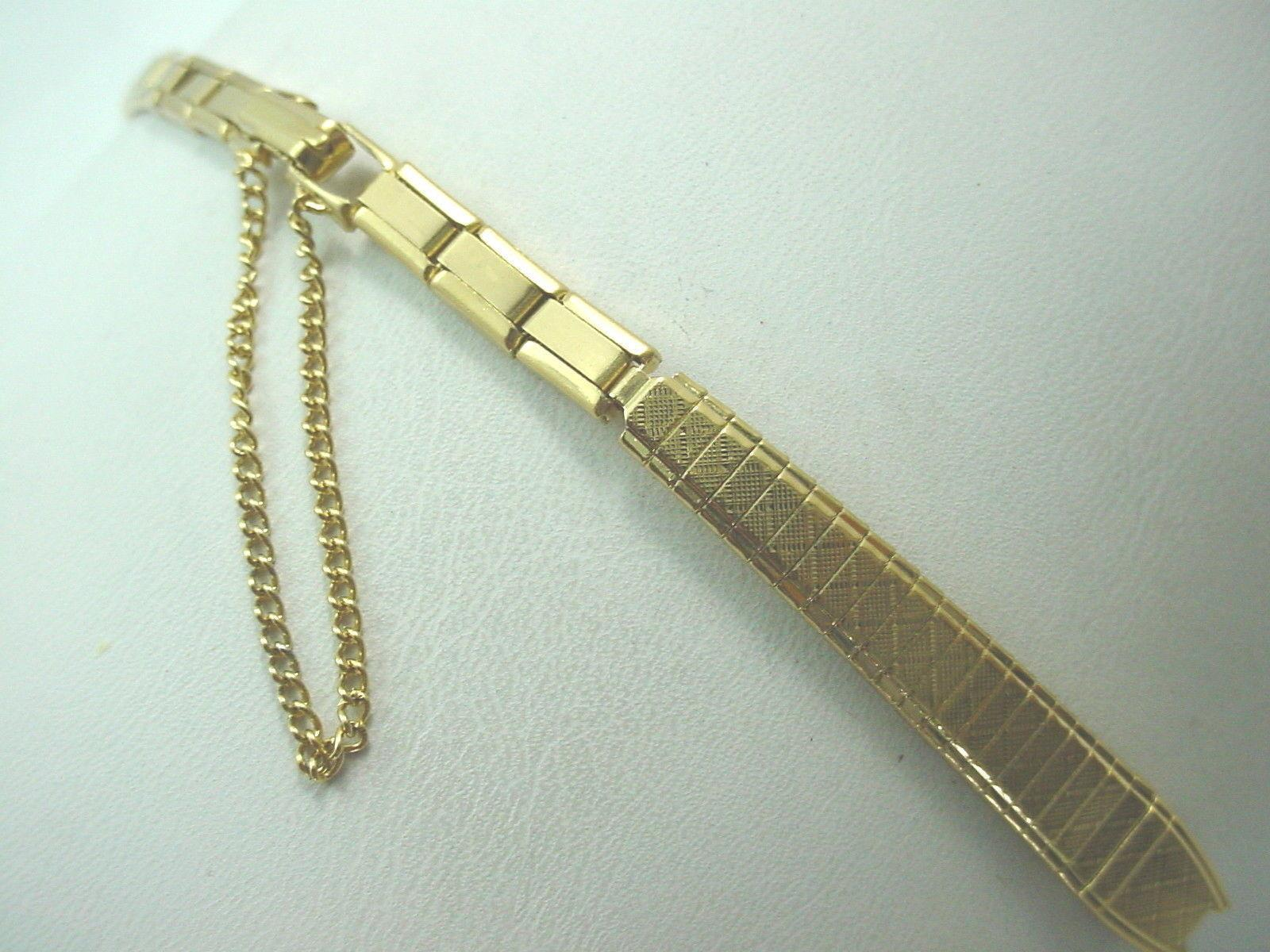 Gold Tone Ladies Vintage Watch Band Speidel C Ring Butterfly Clasp New Old Stock