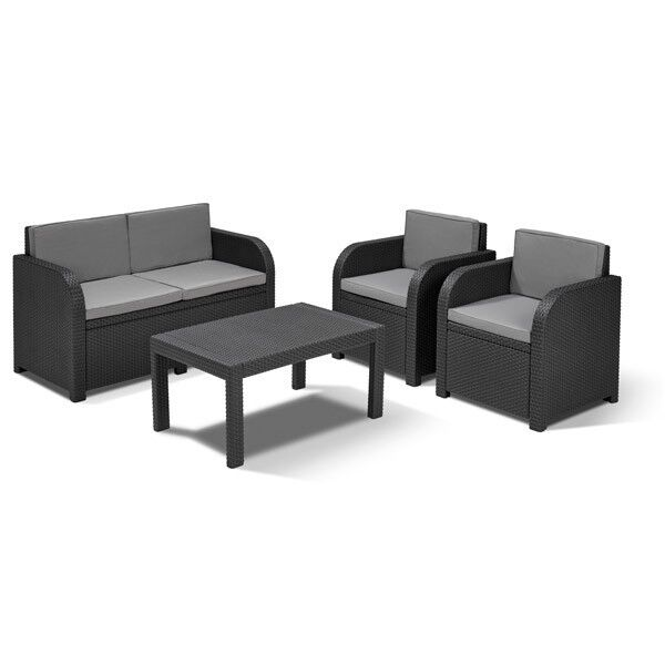 allibert lounge sitzgruppe mississippi tisch gartenm bel rattanm bel balkonm bel eur 255 95. Black Bedroom Furniture Sets. Home Design Ideas
