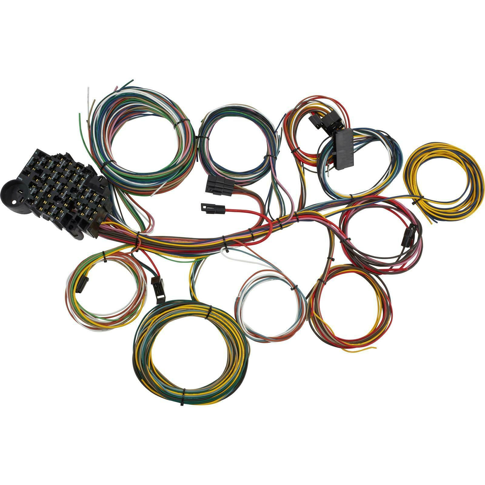 Speedway 22 Circuit Universal Street Rod Wiring Harness w/ Detailed  Instructions 1 of 6Only 5 available See More
