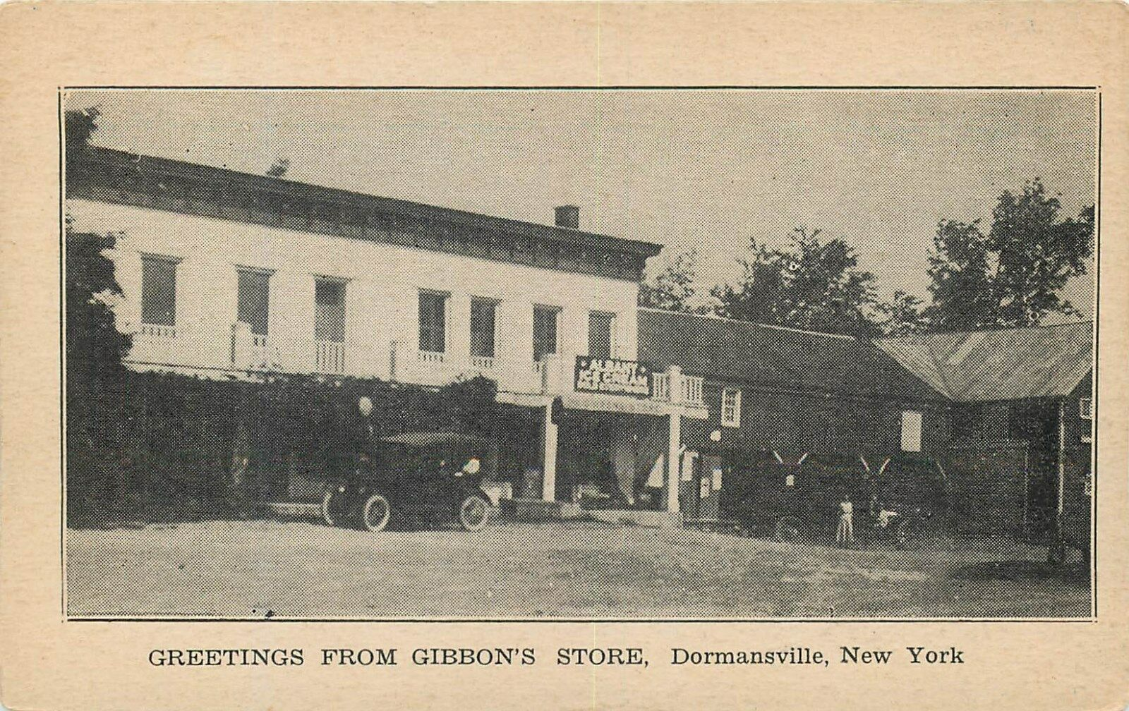 Dormansville New York Greetings From Gibbons Store Old Postcard