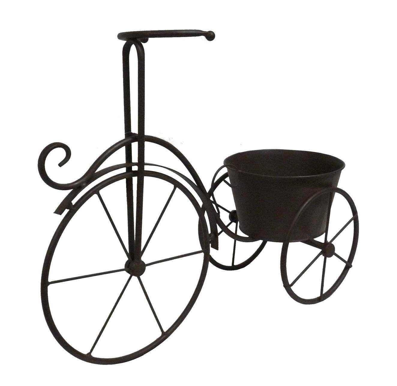 Velo porte plante bac jardini re pot de jardin en metal for Porte jardin metal