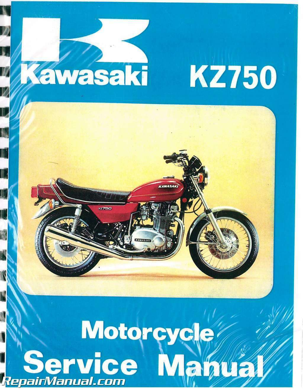 1976 1979 Kawasaki Kz750 B Twin Motorcycle Service Manual 5234 1982 Kz1300 Wiring Diagrams 1 Of 1only 4 Available