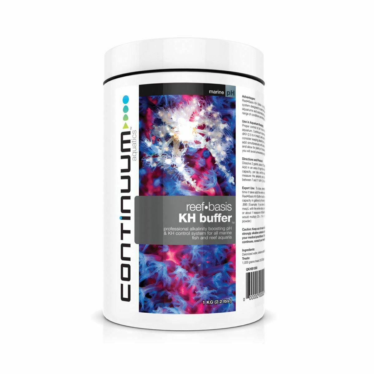Continuum Reef Basis Kh Alkalinity Buffer Dry 250G Marine Water Tank Treatment