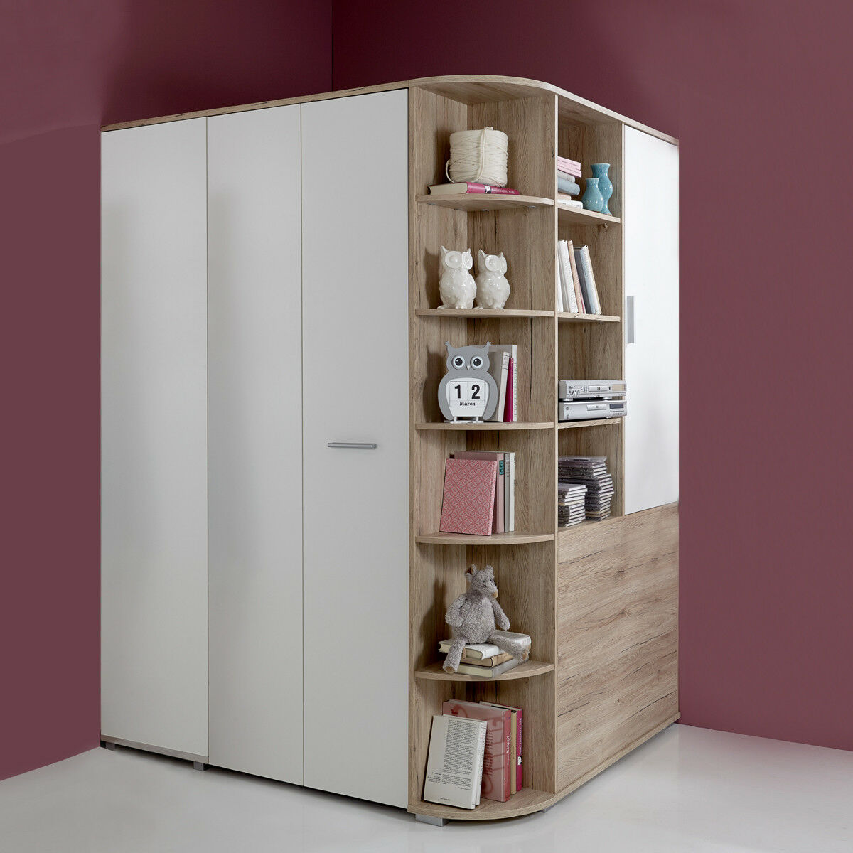 eckschrank joker begehbarer kleiderschrank in san remo eiche alpinwei eur 489 95 picclick de. Black Bedroom Furniture Sets. Home Design Ideas