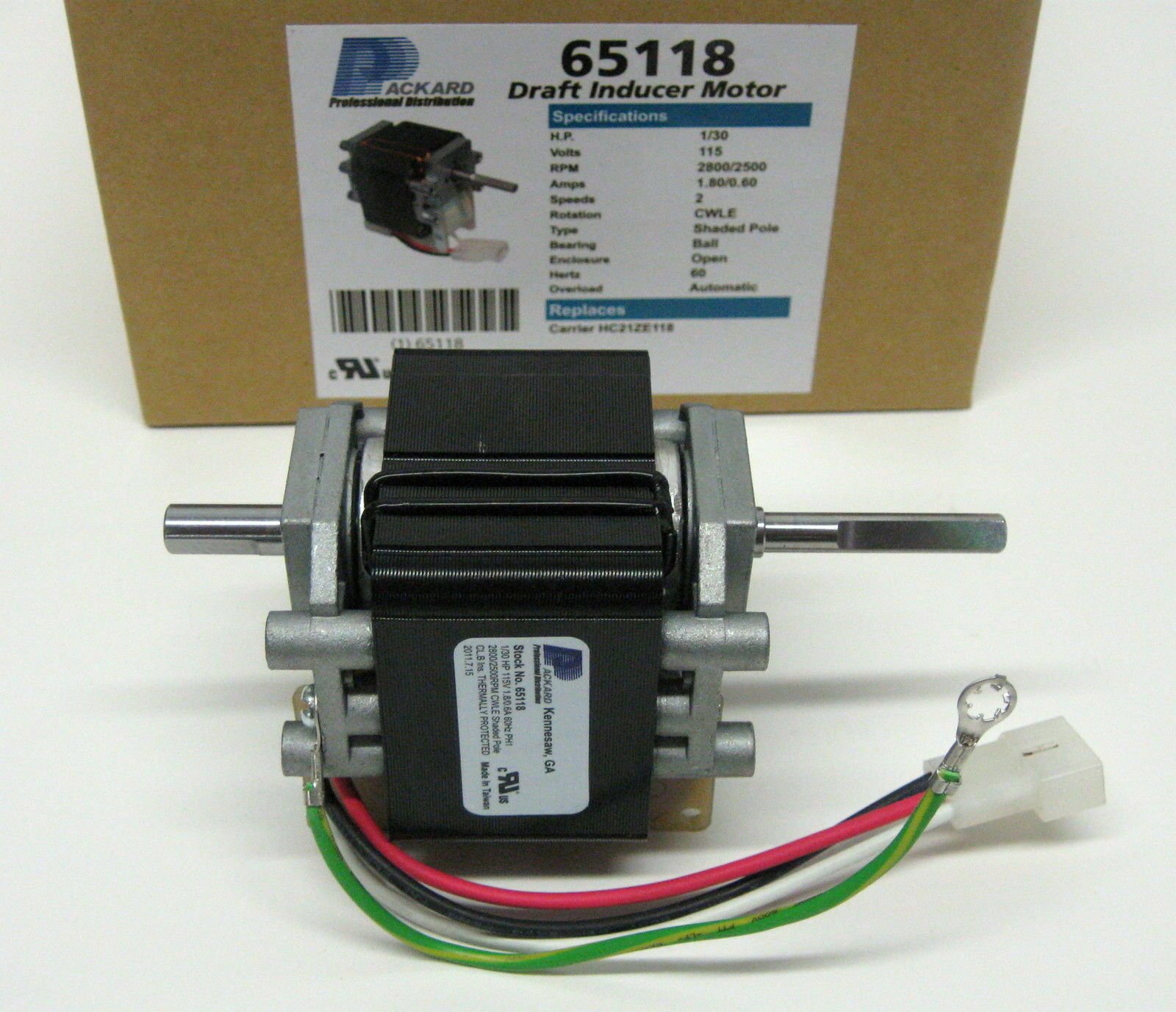 65118 Furnace Draft Inducer Furnace Motor For Carrier