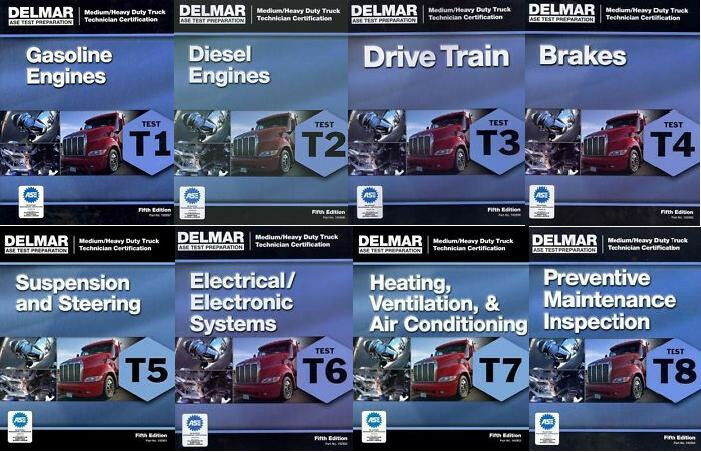 Delmar Ase T1 T8 Heavy Truck Test Prep Manual Set Home Study Answers
