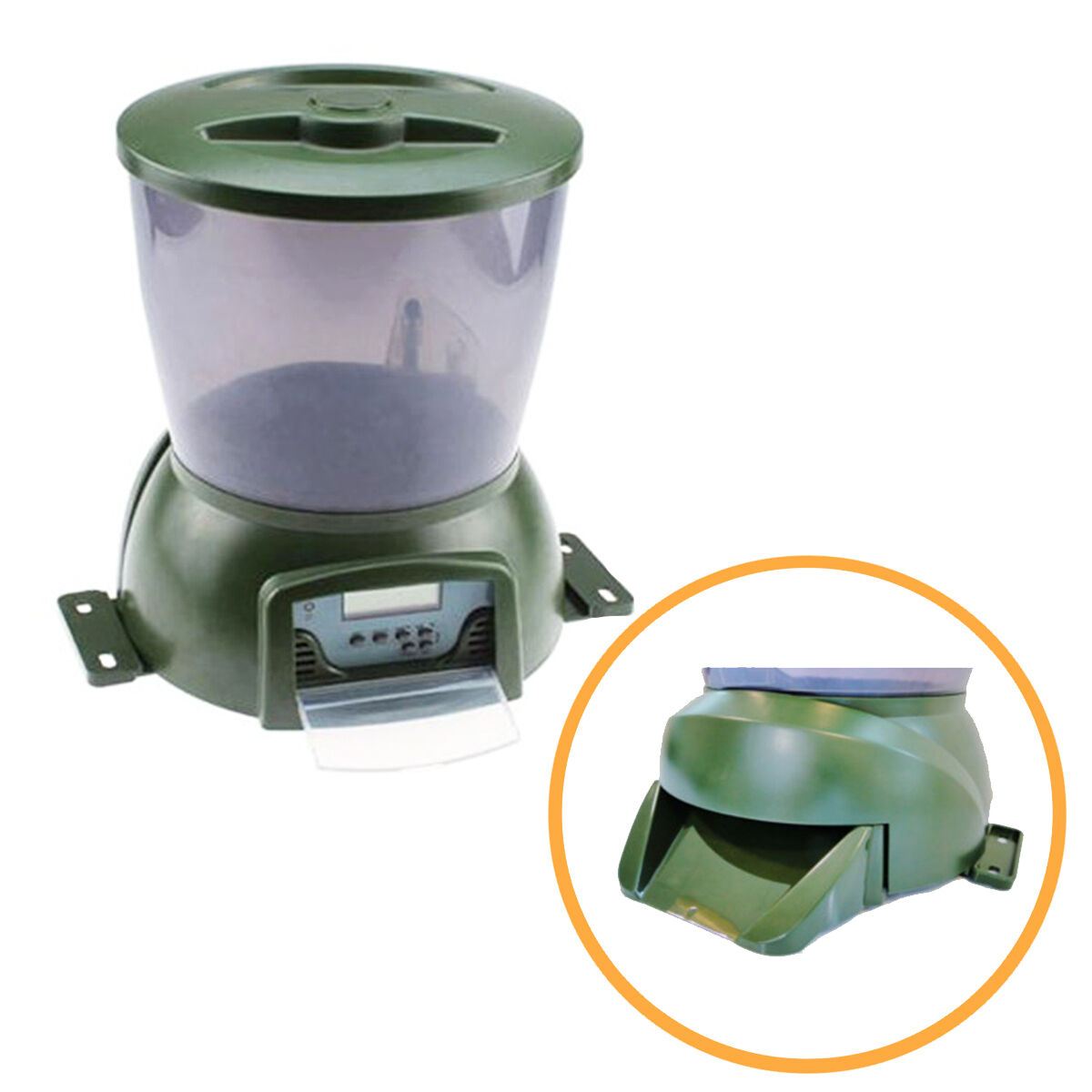 Automatic Pond Fish Food Feeder | Holiday Koi Feed Timer Auto Pellet Dispenser