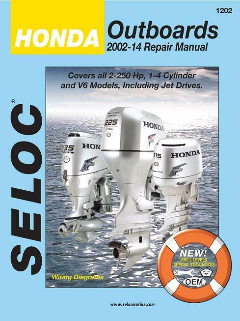 2002 2014 honda outboard 4 stroke 25 250 hp seloc repair manual 40 1 of 1free shipping fandeluxe