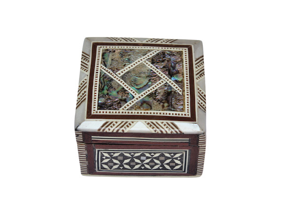 Egyptian Inlaid Mother of Pearl Paua Unique Handmade Jewelry Box 3 ...
