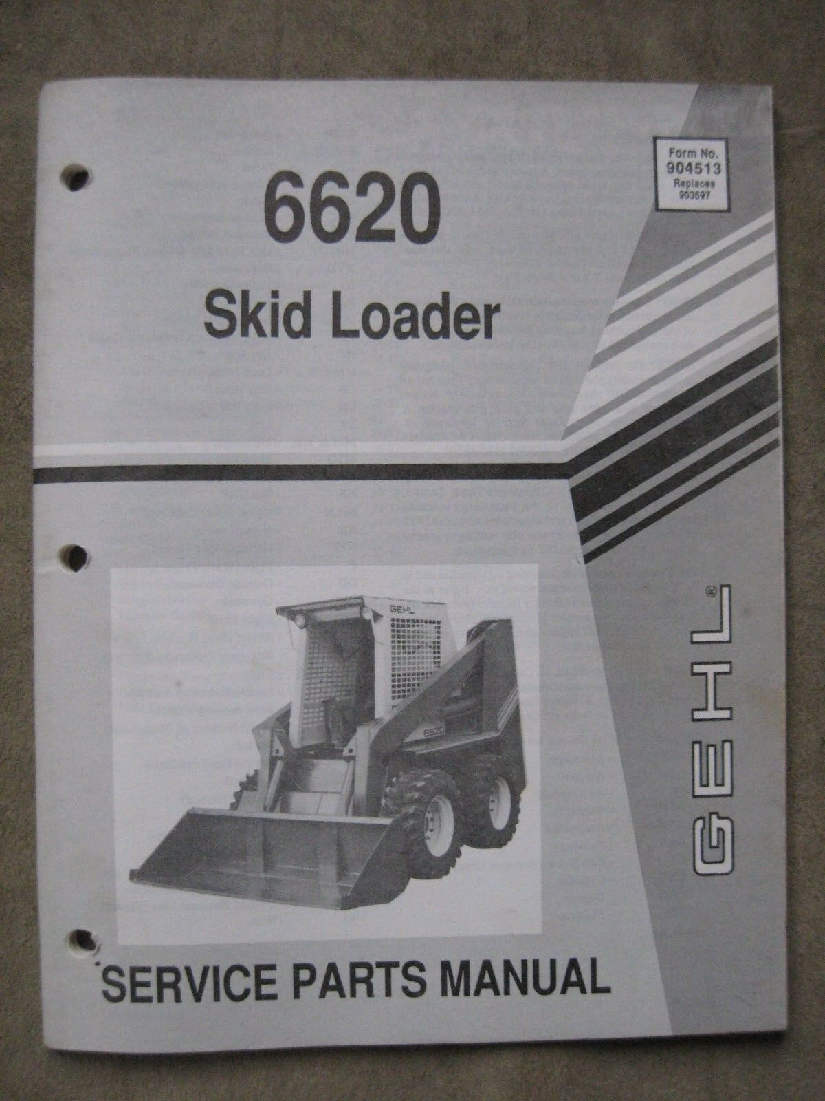 Gehl 6620 Skid Steer Loader Service parts manual 1 of 2Only 1 available ...