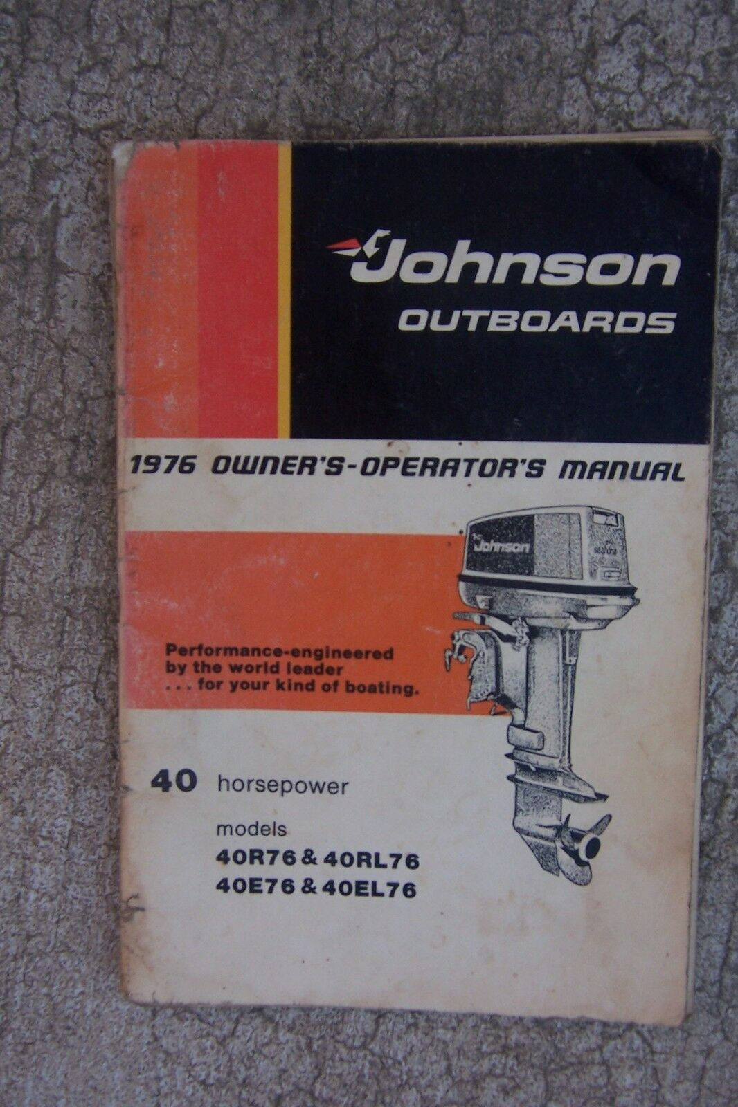 1976 Johnson Outboard 40 HP 40R76 405L76 40E76 40EL76 Owner Operator Manual  S 1 of 1Only 1 available ...