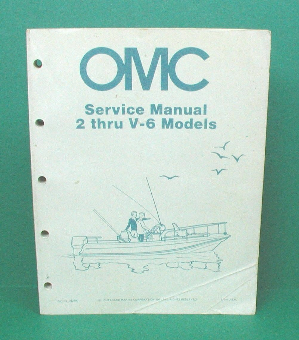 1982 Omc Evinrude Johnson 2 Hp Thru V 6 Outboard Motor Master 1994 175 Wiring Diagrams 1 Of 2only Available