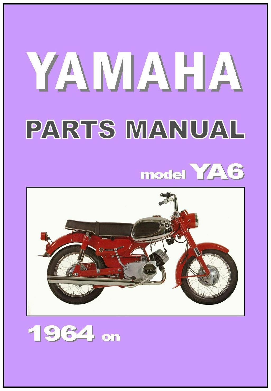 1 of 3Only 1 available YAMAHA Parts Manual YA6 A6 125cc 1964 1965 1966 1967  1968 Spares Catalog List