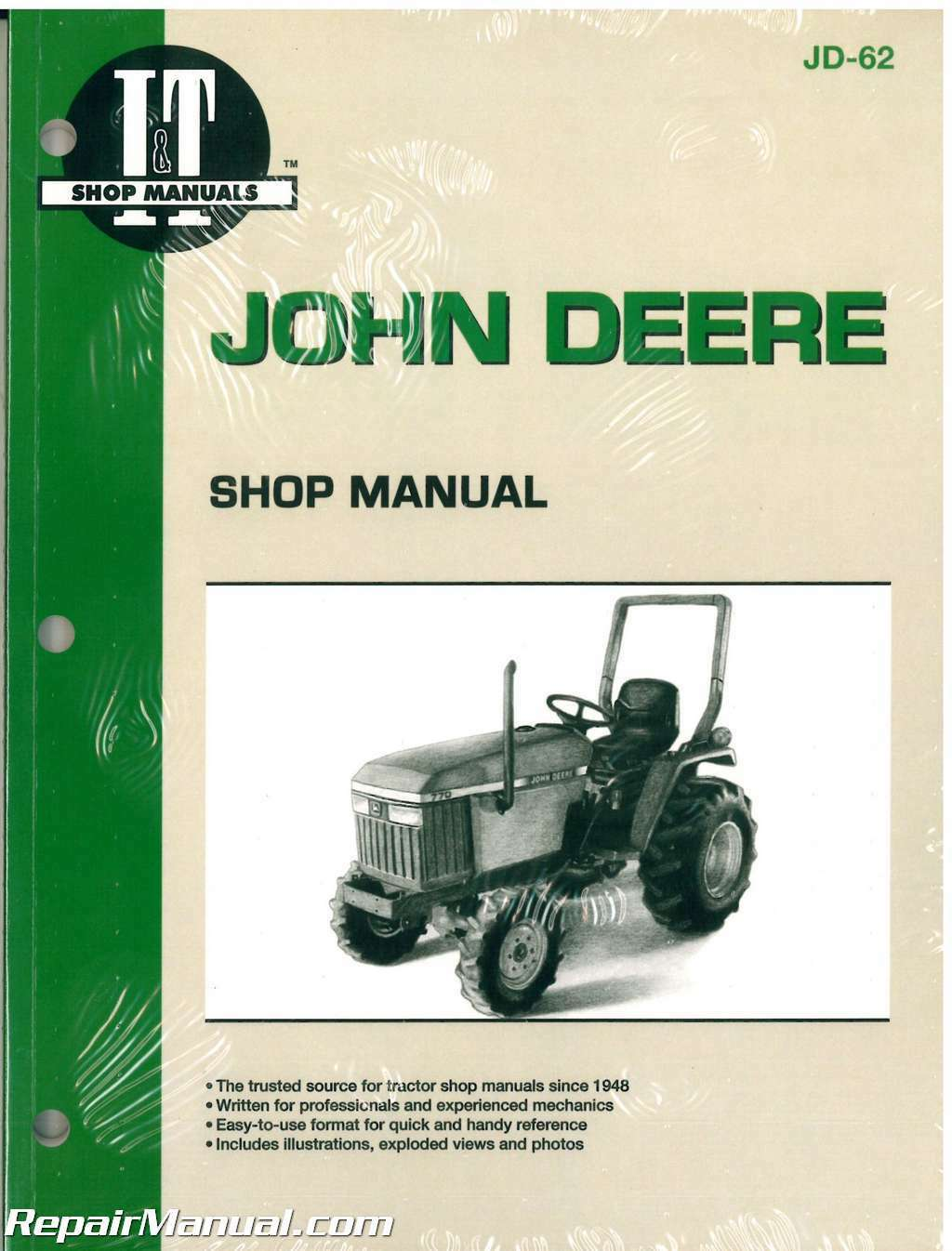 John Deere 670 770 870 970 1070 Tractor Workshop Service Manual : JD-62 1  of 1Only 5 available ...