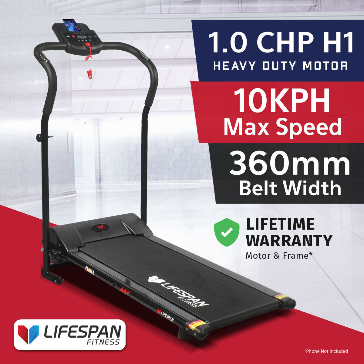 Easy Home Exercise Equipment: LIFESPAN FITNESS ARC Compact Treadmill Exercise Easy