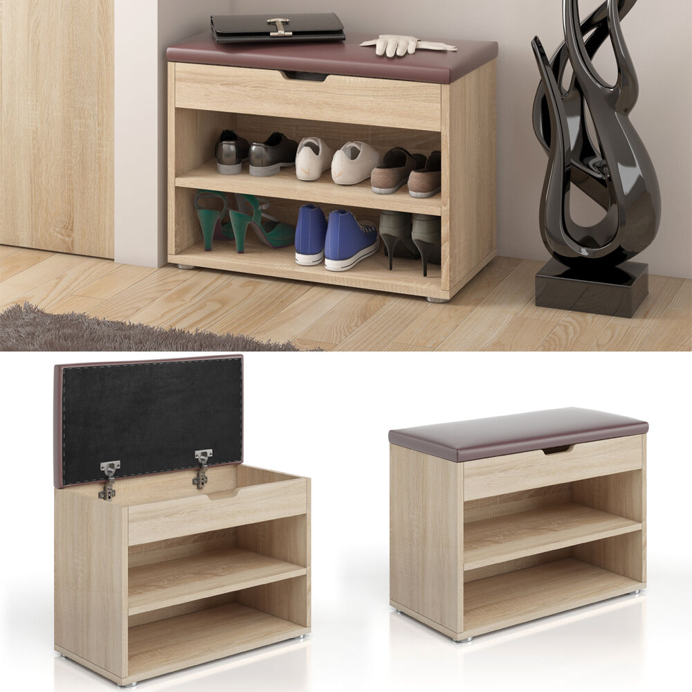 schuhbank schuhschrank schuhablage sitzbank klappdeckel 6. Black Bedroom Furniture Sets. Home Design Ideas