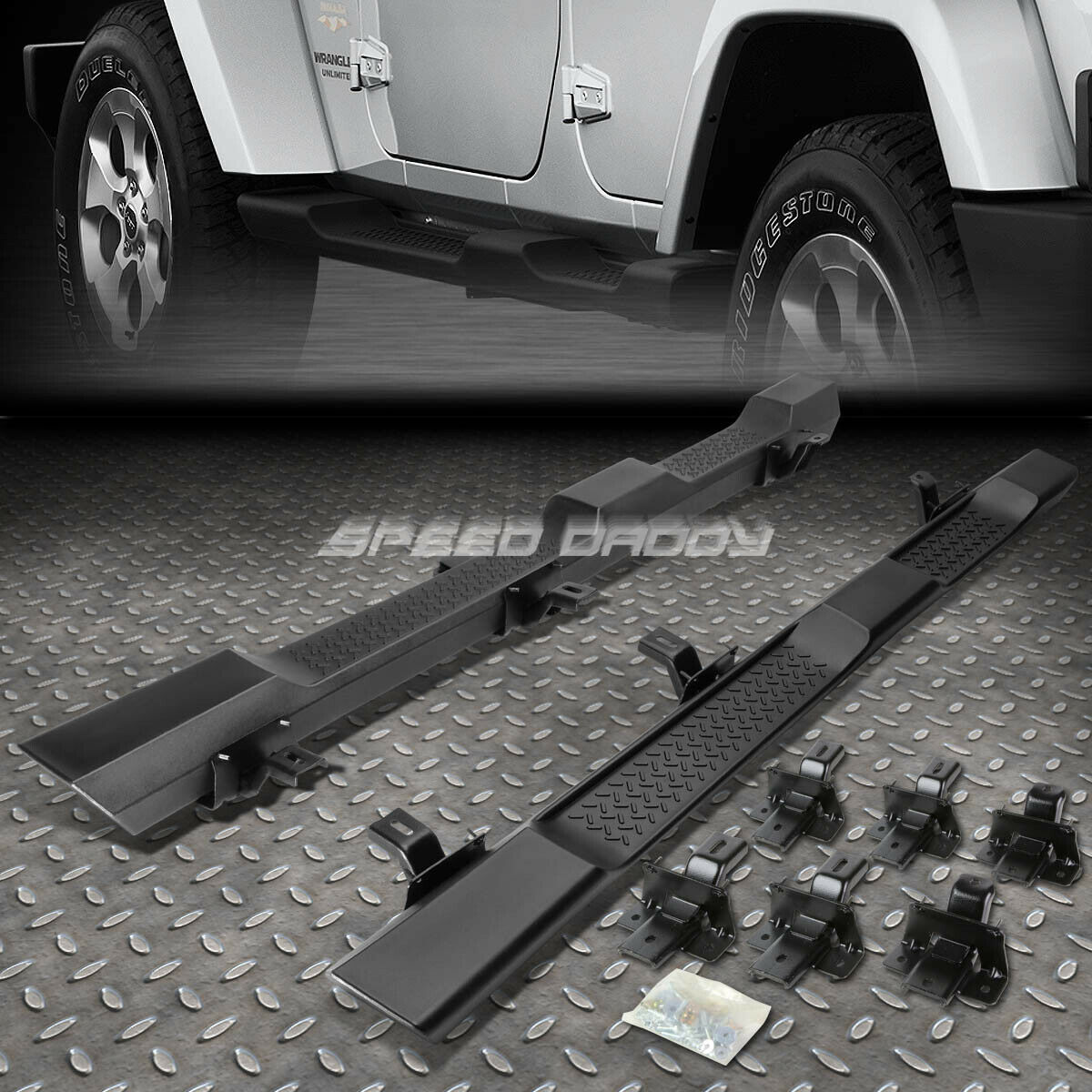 For 07 16 Jk Jeep Wrangler 4dr Oe Factory Style Side Step Running Boards Board Nerf 1 Of 5free Shipping See More