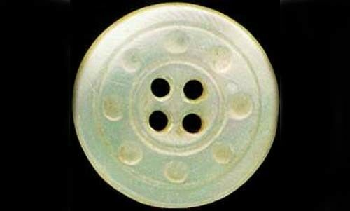 Handcrafted 19thC Mother of Pearl Sea Shell Button Pin