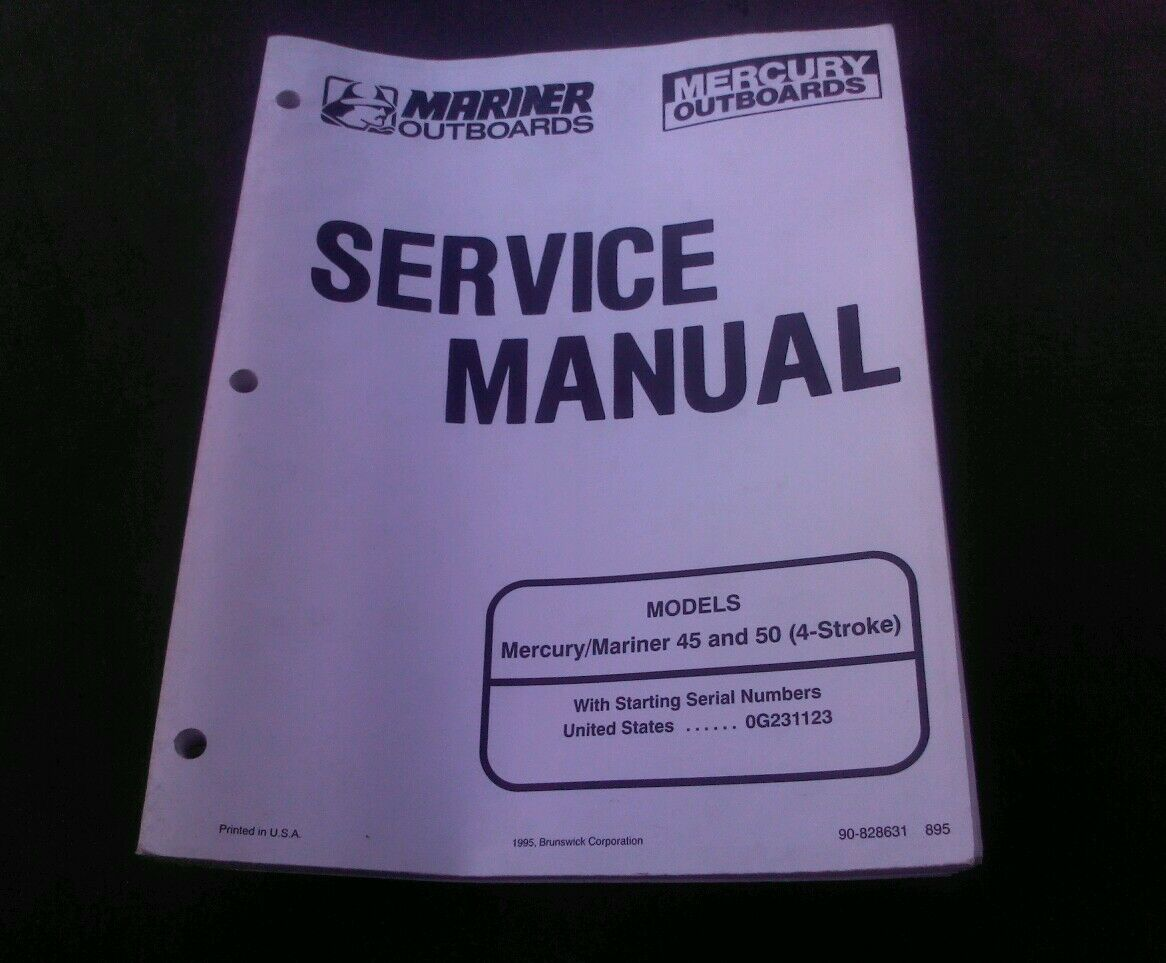 Mercury/Mariner 45/50 hp 4-Stroke Service Manual 90-828631 1 of 2Only 1  available ...