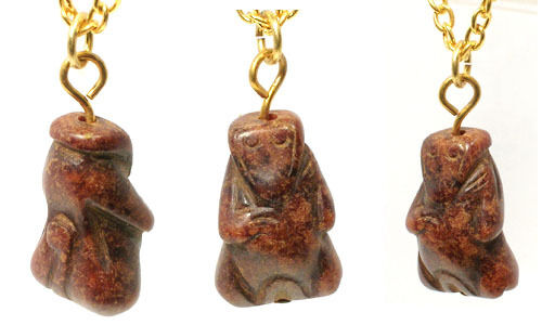 Ancient China Hand Carved Red Jade Monkey Amulet BC1000