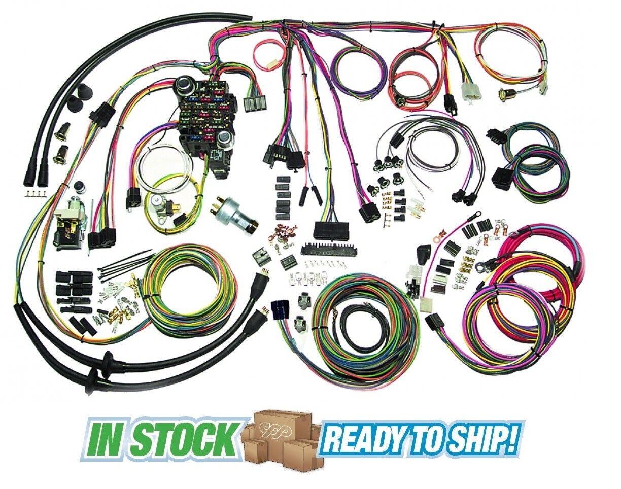 1 of 6Only 2 available 1957 57 Chevy Belair Classic Update American  Autowire Wiring ...