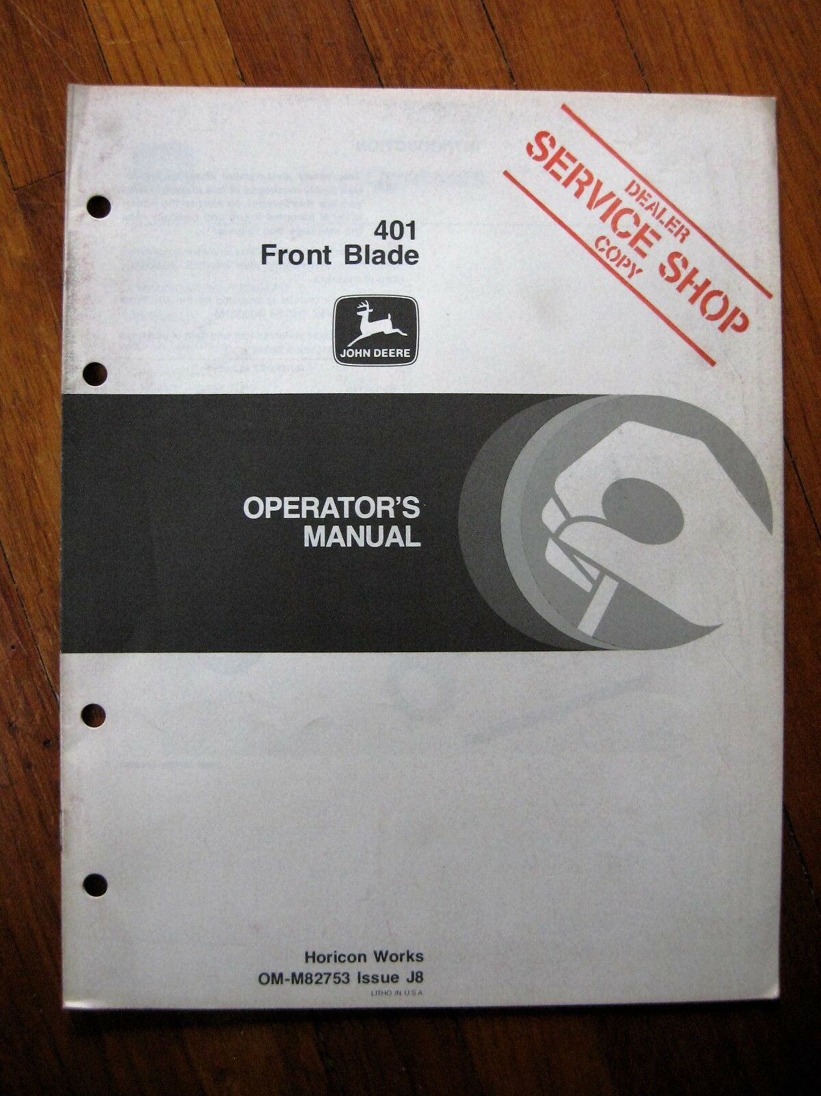 John Deere 401 Front Blade Operators manual 108 111 Lawn tractor 1 of 2Only  2 available ...