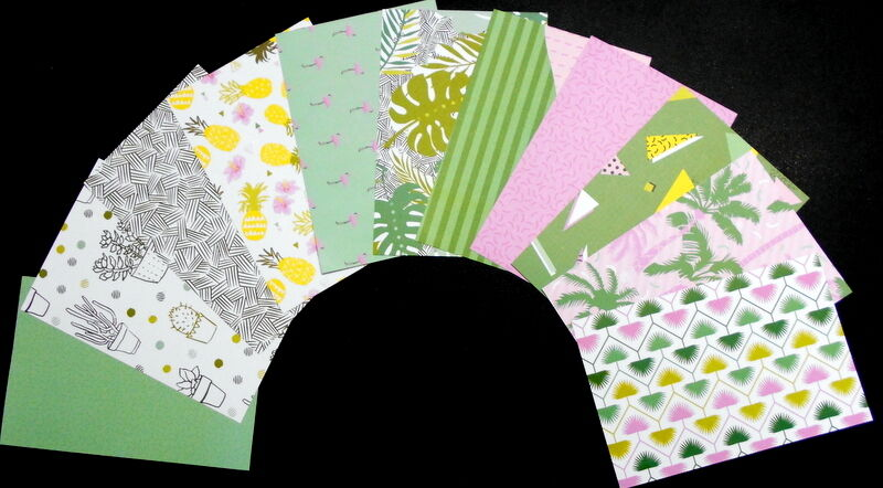 """*SUMMERTIME*  Colourful Scrapbooking/Cardmaking Papers - 15cm x10cm (6"""" x 4"""")"""